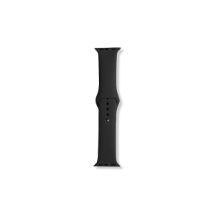 Silicone Apple Watch Band (38mm/40mm) - Black