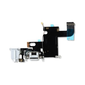 Charging Port Flex Cable for iPhone 6 - Light Gray