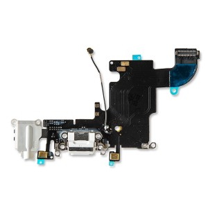 Charging Port Flex Cable for iPhone 6S - White