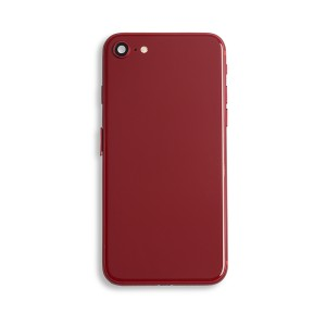 Back Housing with Small Parts for iPhone 8 (GENERIC) - Red