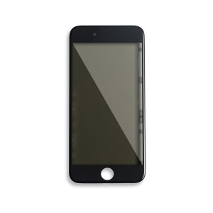 Glass with Frame / OCA / Polarizer Pre-Installed for iPhone 7 - Black