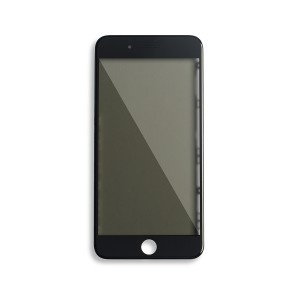 Glass with Frame / OCA / Polarizer Pre-Installed for iPhone 7 Plus - Black