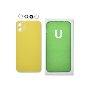 Back Glass and Rear Camera Lens Set for iPhone 11 (Generic) - Yellow