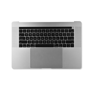 "Palmrest Assembly with Battery for MacBook Pro 15"" with Touch Bar - Late 2016 - Mid 2017 (A1707) - Silver"