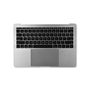 """Palmrest Assembly with Trackpad and Battery for MacBook Pro 13"""" - Late 2016 - Mid 2017 (A1708) - Silver"""