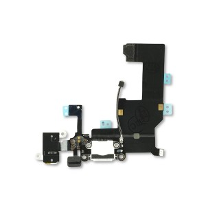 Charging Port Flex Cable for iPhone 5 (SELECT) - White