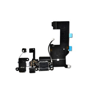 Charging Port Flex Cable for iPhone 5 (PRIME) - Black