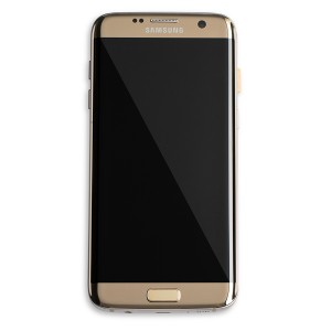 LCD & Digitizer Display Assembly (w/Frame) for Galaxy S7 Edge (OEM - Refurbished) - Gold Platinum
