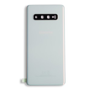 Back Glass with Adhesive for Galaxy S10 (OEM - Service Pack) - Prism White
