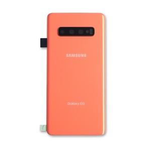 Back Glass with Adhesive for Galaxy S10 (OEM - Service Pack) - Flamingo Pink