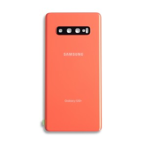 Back Glass with Adhesive for Galaxy S10+ (OEM - Service Pack) - Flamingo Pink