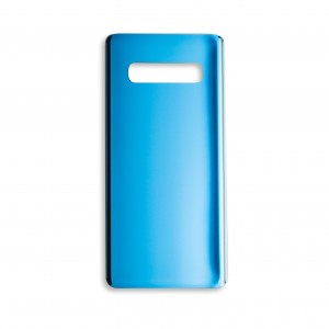 Back Glass with Adhesive for Galaxy S10+ (Generic) - Prism Blue