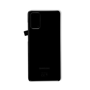 Back Glass with Adhesive for Galaxy S20+ (OEM - Service Pack) - Cosmic Black
