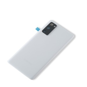 Back Glass with Adhesive for Galaxy S20 FE 5G (OEM - Service Pack) - Cloud White
