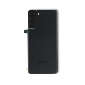 Back Glass with Adhesive for Galaxy S21+ 5G (OEM - Service Pack) - Phantom Black