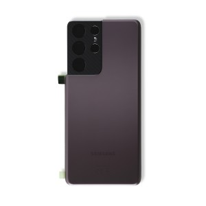 Back Glass with Adhesive for Galaxy S21 Ultra 5G (OEM - Service Pack) - Phantom Brown