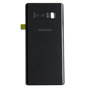 Back Glass with Adhesive for Galaxy Note 8 (OEM - Service Pack) - Midnight Black
