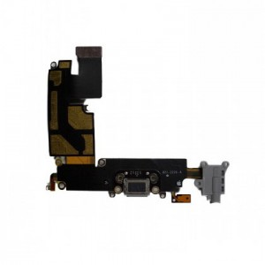 "Charging Port & Headphone Jack Flex Cable for iPhone 6 Plus (5.5"") - Dark Grey"