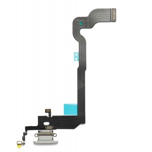 Charging Port Flex Cable for iPhone X - Silver