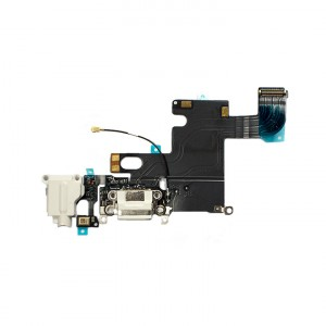 Charging Port Flex Cable for iPhone 6 - White