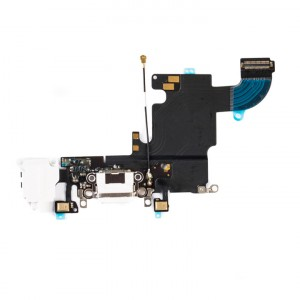 """Charging Port & Headphone Jack Flex Cable for iPhone 6S (4.7"""") - White"""