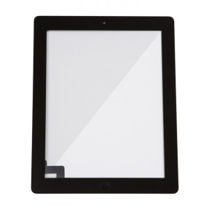 Digitizer & Home Button Assembly (w/ Adhesive) for iPad 2 (MDSelect) - Black