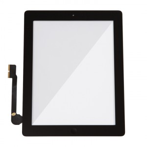 Digitizer & Home Button Assembly (w/ Adhesive) for iPad 3 / iPad 4 (MDSelect) - Black