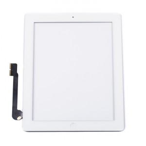 Digitizer & Home Button Assembly (w/ Adhesive) for iPad 3 / iPad 4 (MDSelect) - White