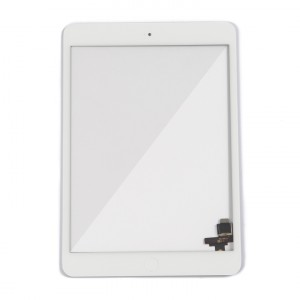 Digitizer (w/ IC Connector & Home Button) for iPad Mini / iPad Mini 2 (PrimeParts - Premium) - White