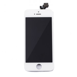 LCD & Digitizer Frame Assembly for iPhone 5 (PrimeParts - Premium) - White