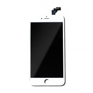 """LCD & Digitizer Frame Assembly for iPhone 6 Plus (5.5"""") (PrimeParts - Premium) - White"""
