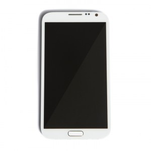 LCD & Digitizer Frame Assembly for Samsung Galaxy Note 2 (I605 / L900) (MDSelect - Generic) - White