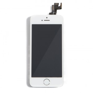 LCD & Digitizer Frame Assembly (w/ Front Cam & Prox. Sensor & Ear Speaker) for iPhone 5S (MDSelect) - White
