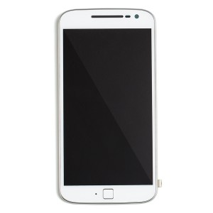 LCD & Digitizer Frame Assembly for Motorola Moto G4 Plus (w/Small Parts) (XT1640, XT1641, XT1642, XT1644) (Authorized OEM) - White