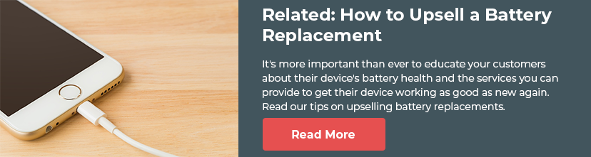 Read our blog on how to upsell battery replacements